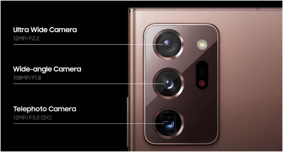 갤럭시 노트20 울트라의 1억800만 화소 카메라