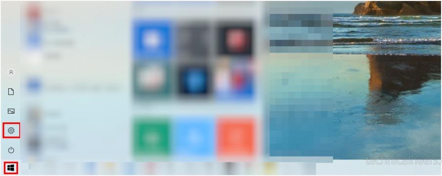 윈도우10 초기화 - 설정 메뉴 들어가기