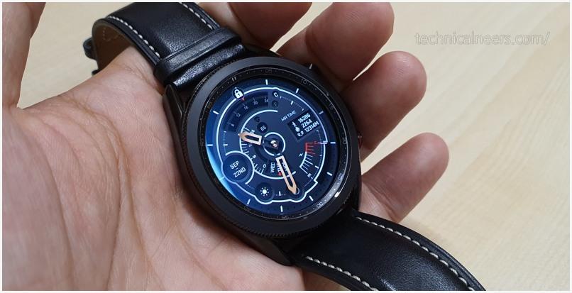 갤럭시 워치3 전면 시계 디자인